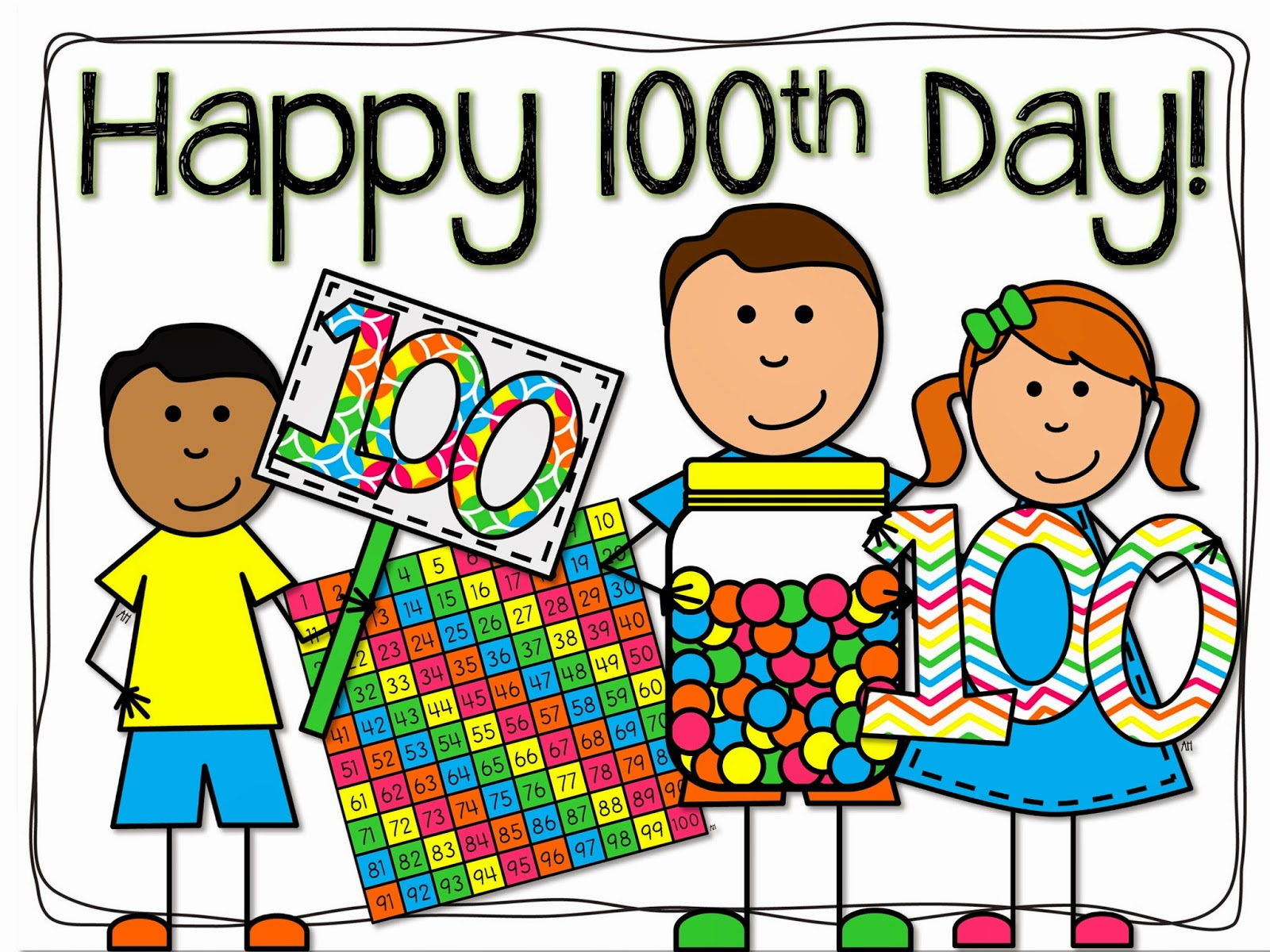 Me And My Threes Happy 100th Day