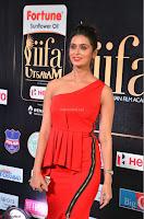 Meenakshi Dixit in Red One Shoulder Red Zipped up gown at IIFA Utsavam Award 10.JPG