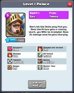 clash royale prince