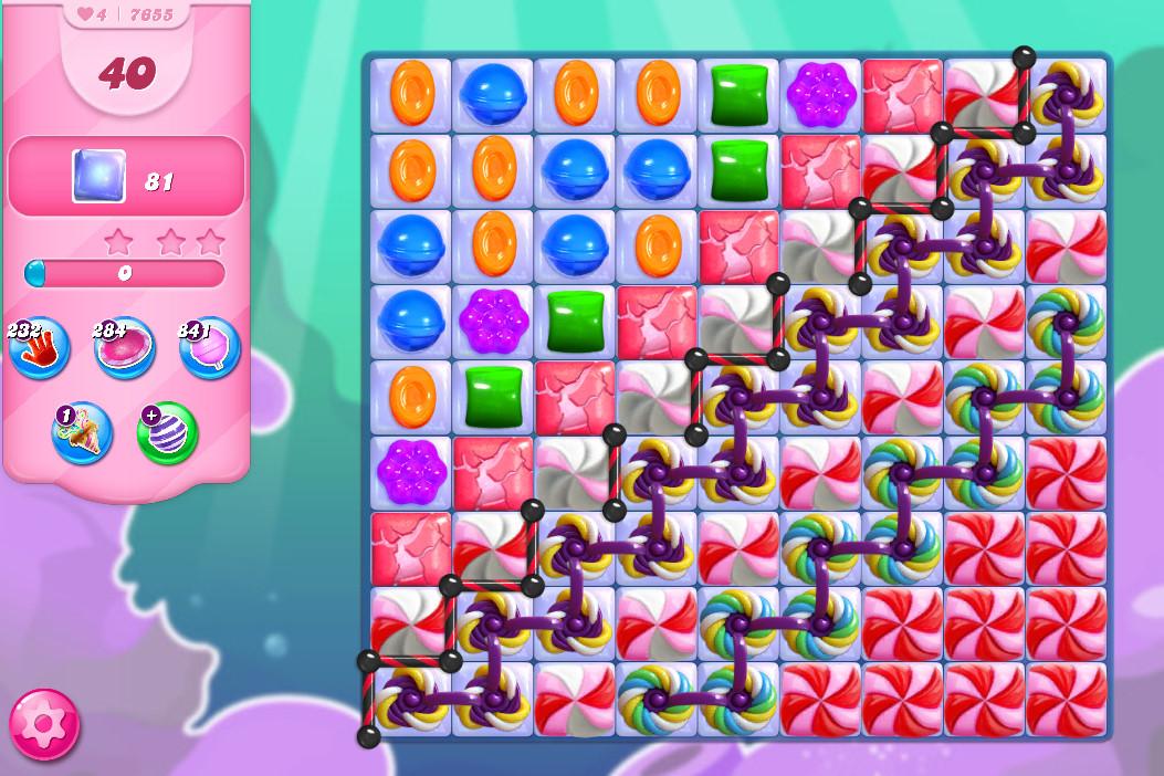 Candy Crush Saga level 7655