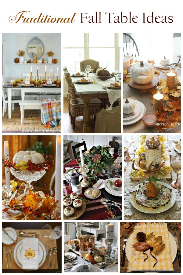 tablescape ideas with traditional fall colors