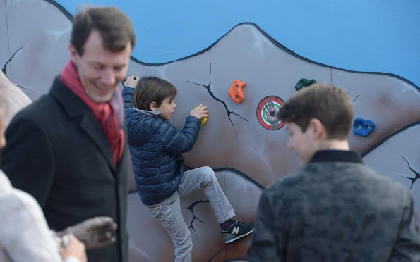 Prince Joachim, Princess Marie and their children Prince Felix, Prince Henrik and Princess Athena visited Legoland amusement park