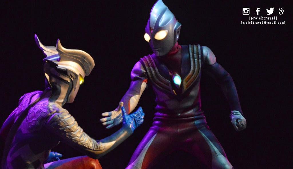 Ultraman Zero dan Ultraman Tiga