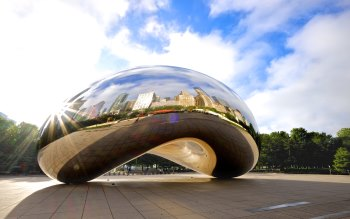 Wallpaper: Cloud Gate (The Bean)