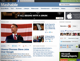 Mashable, most popular blog
