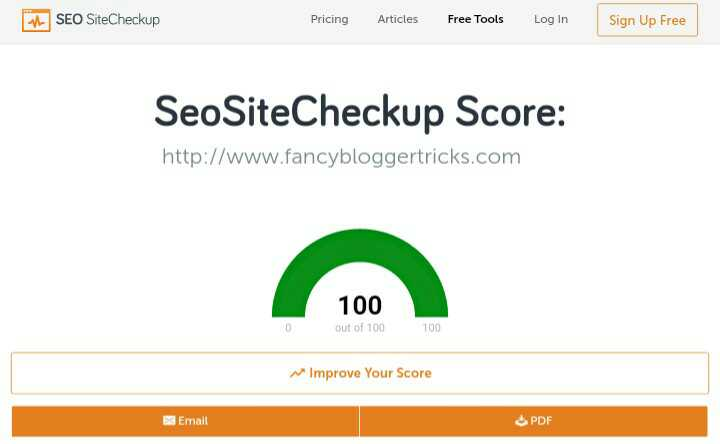 Seositecheckup simple website speed analyzer