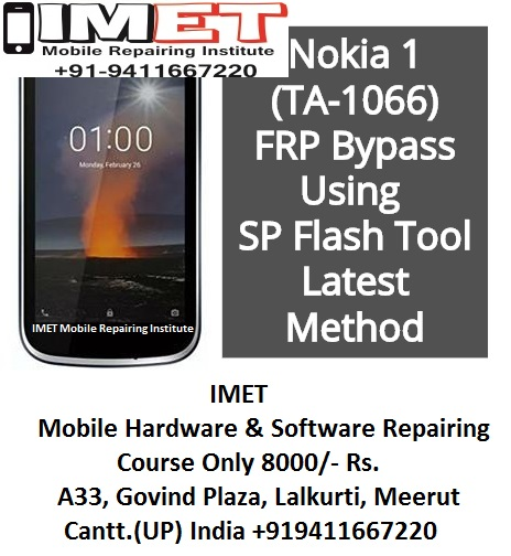 Nokia 1 TA-1066 FRP Bypass Using SP Flash Tool – Latest