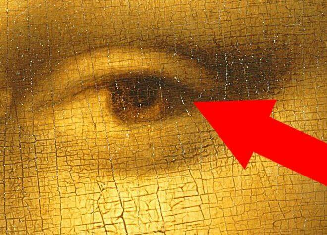 Mona Lisa eyes Signature