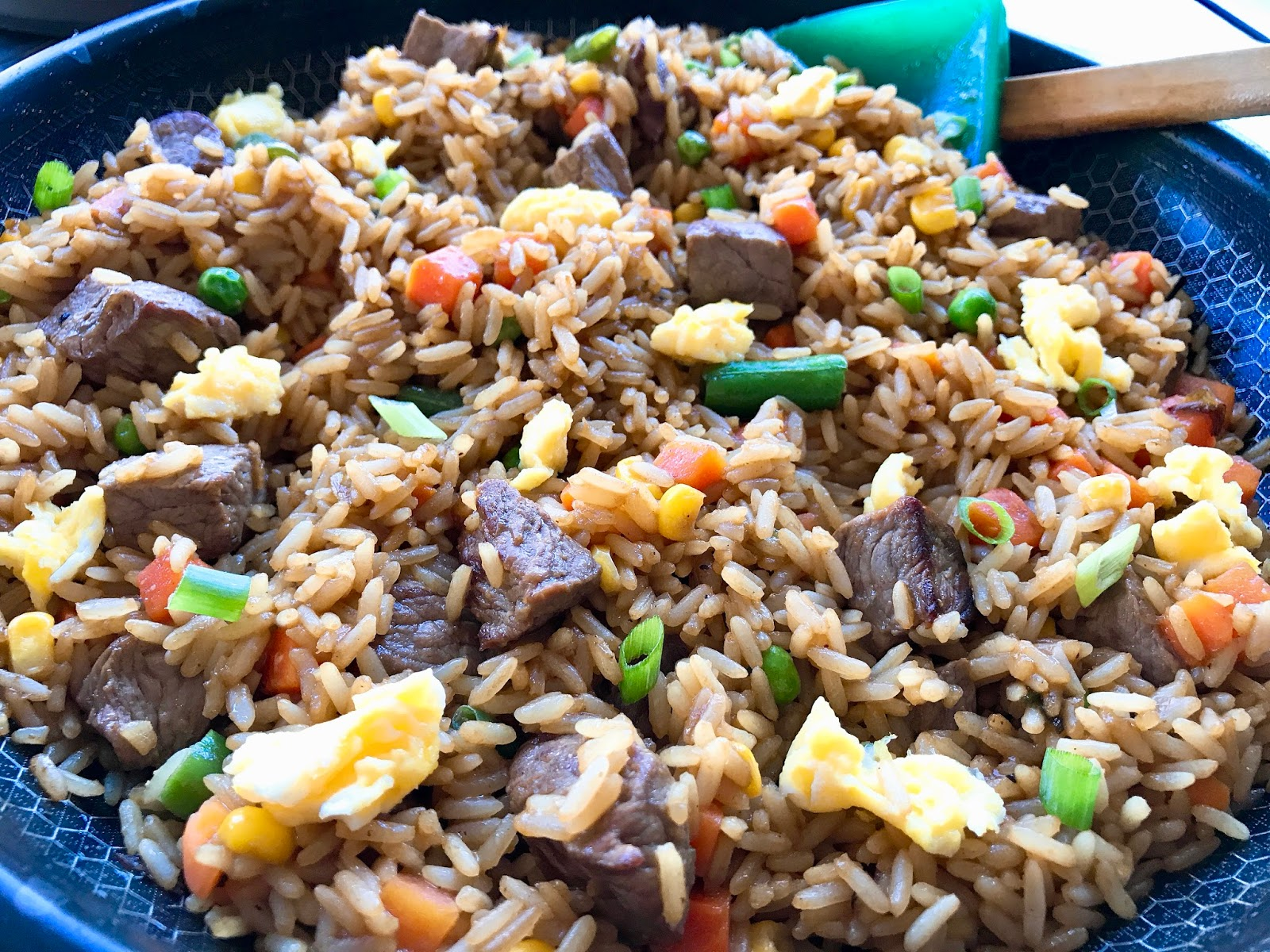 Steak fried rice with mixed vegetables ccuart Gallery