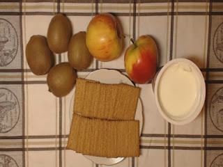Deser z kiwi składniki