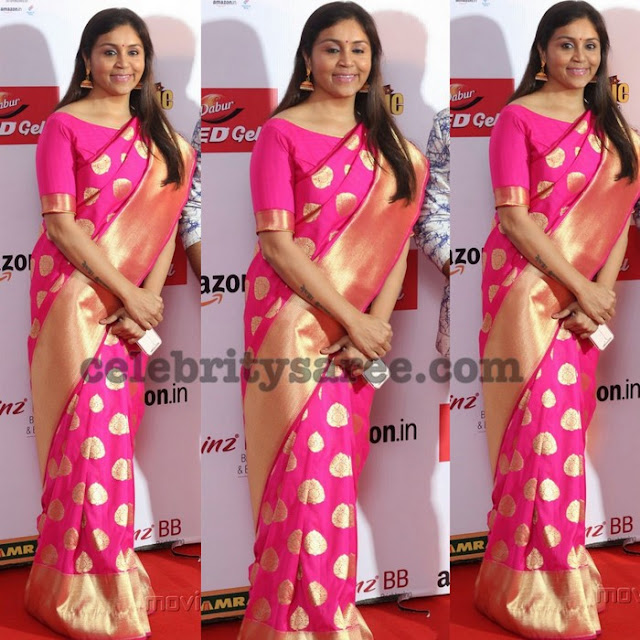 Pink Benaras Sari at Mirchi Music Awards