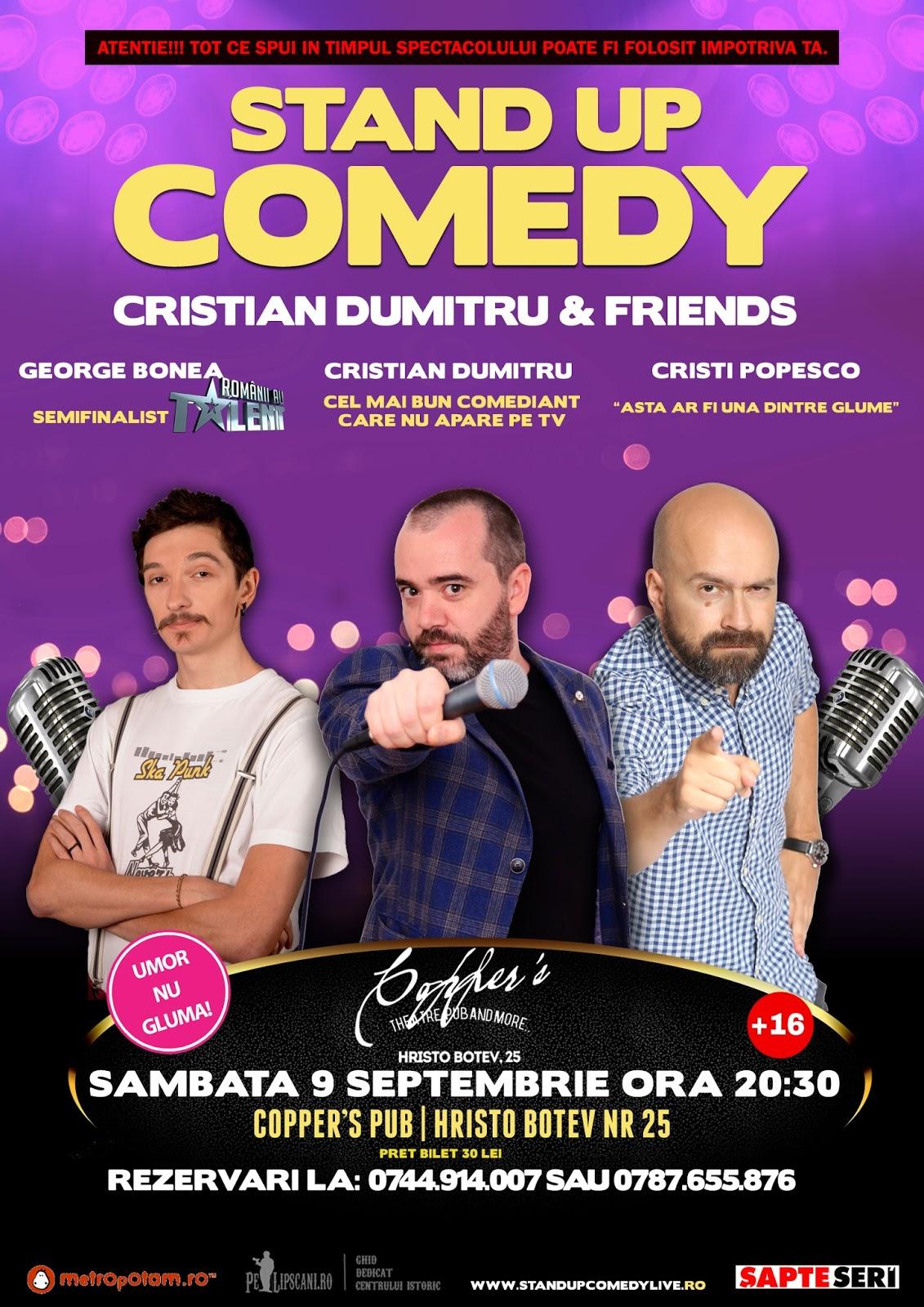 Stand-Up Comedy Bucuresti Sambata 9 Septembrie