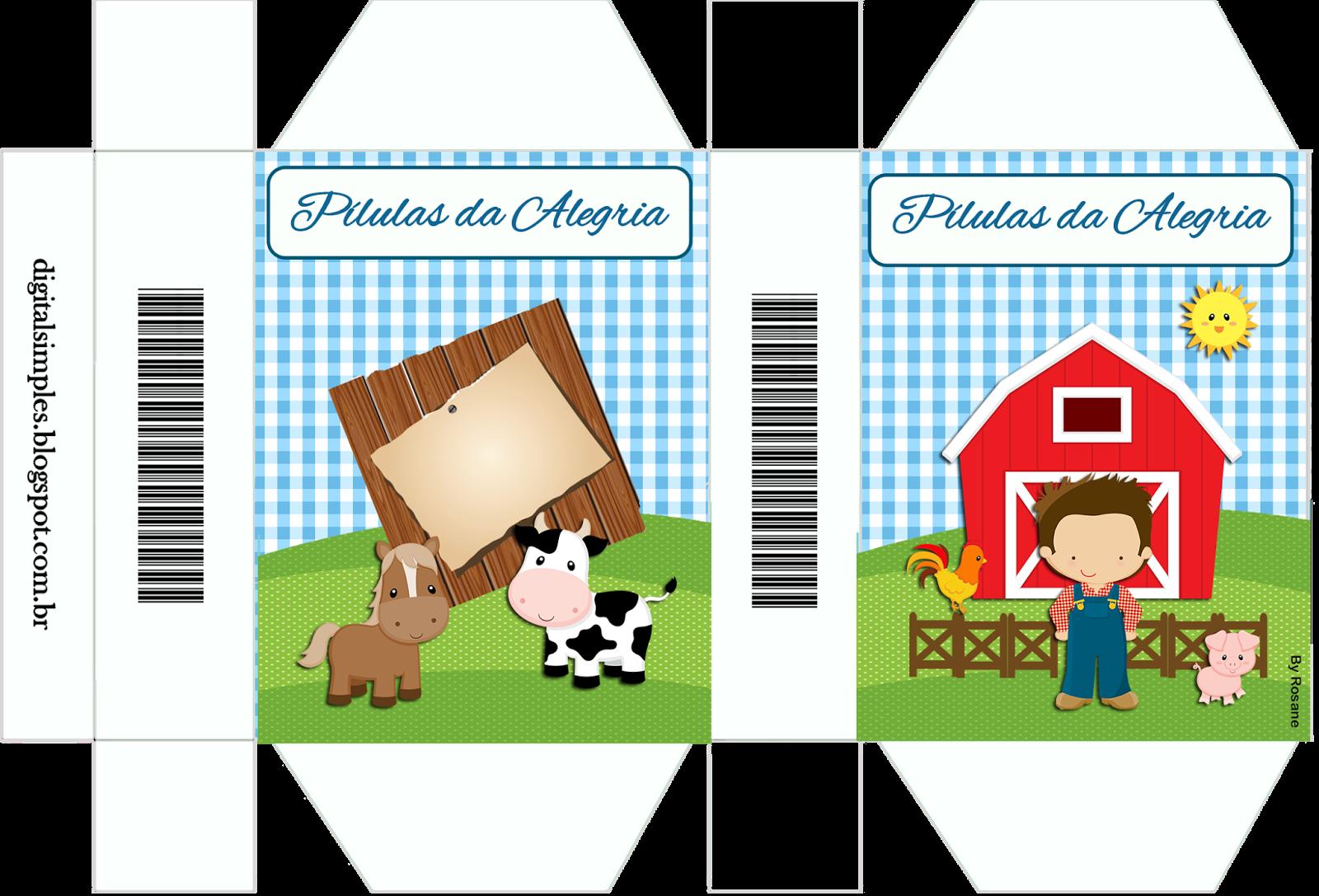 """Clipart Fazendinha Png: Kit Personalizados Tema """"Fazendinha Menino"""" Para Imprimir"""