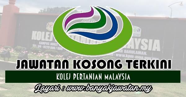 Jawatan Kosong 2018 di Kolej Pertanian Malaysia