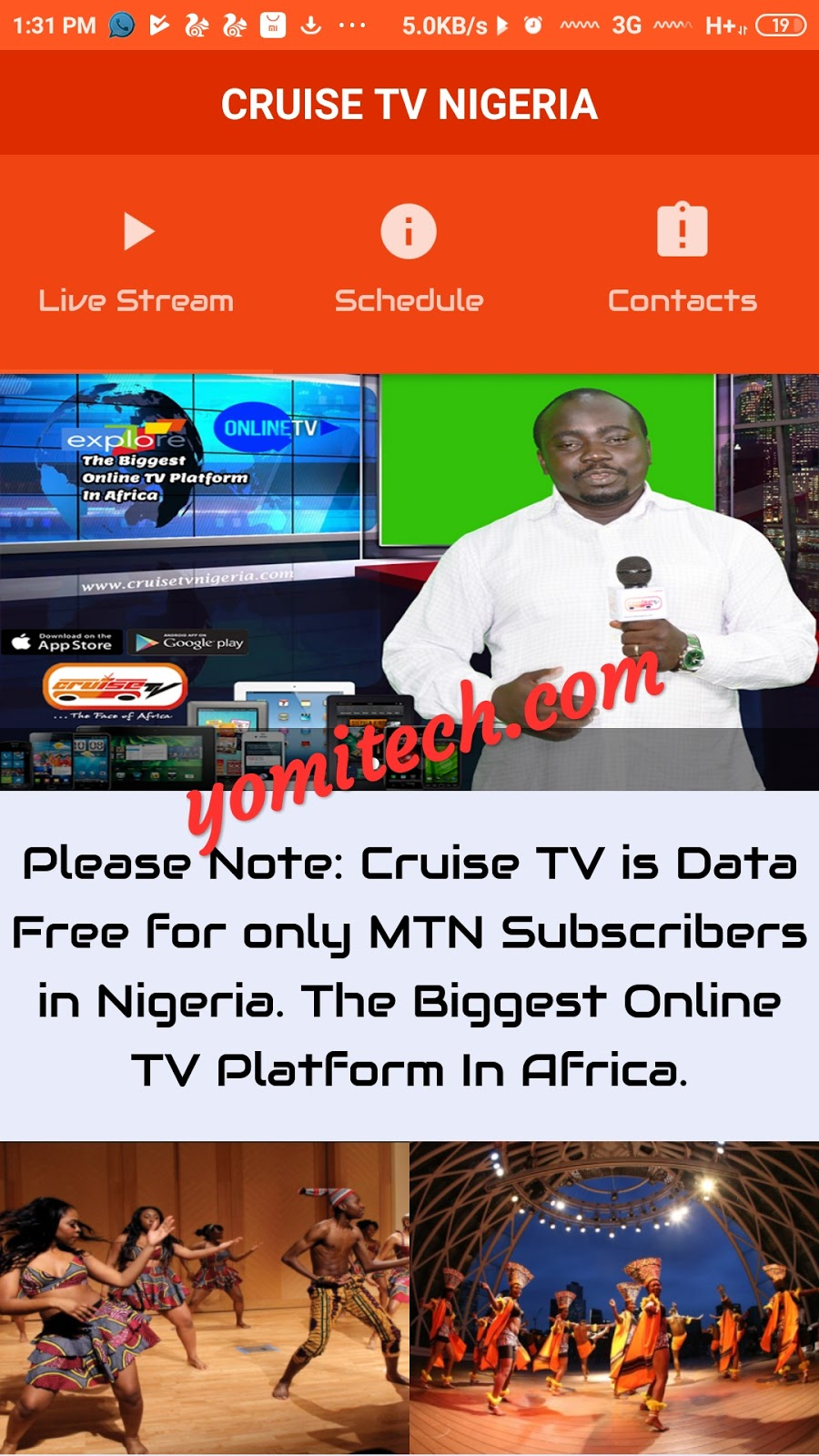 Stream Live TV Shows For Free On Cruise TV App With MTN