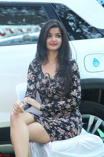 Kritika Telugu cinema Model in Short Flower Print Dress 046.JPG
