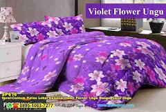 Sprei Custom Katun Lokal Dewasa Violet Flower Ungu Bunga Floral Ungu