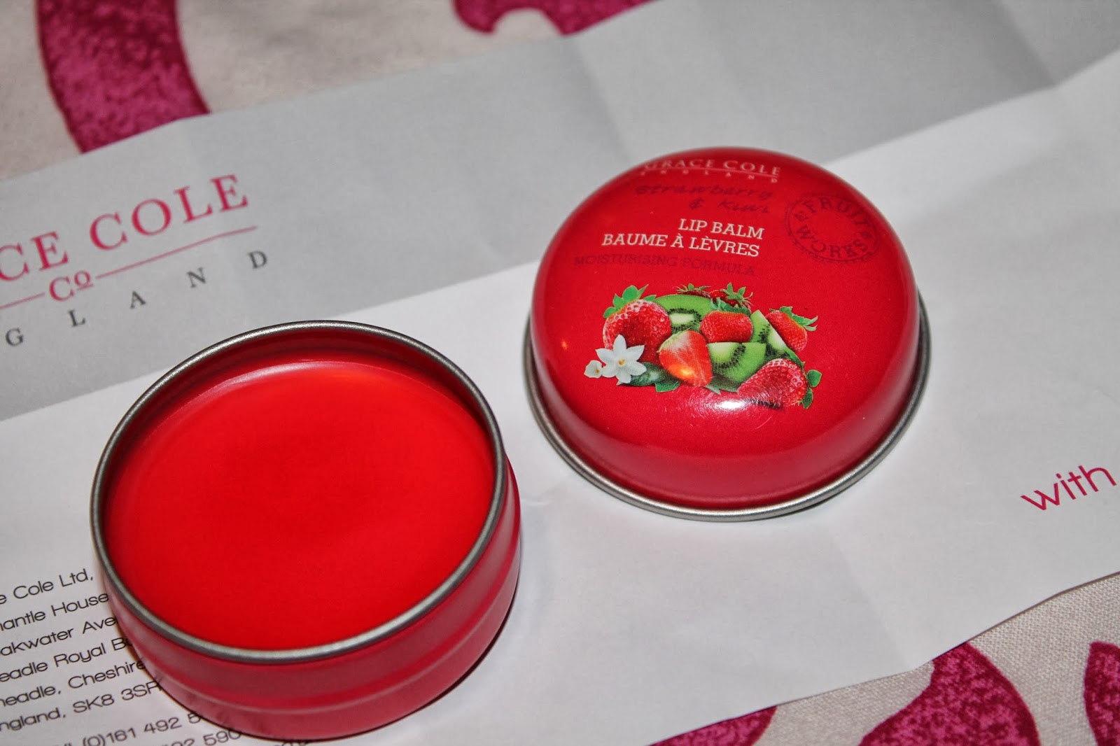 Grace Cole Fruit Works Lip Balm - Strawberry and Kiwi