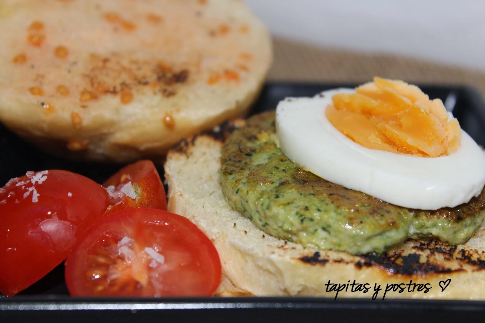 Tapitas y postres hamburguesa de pollo y verduras - Hamburguesa de verduras ...