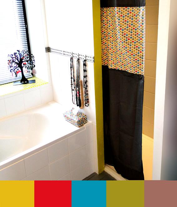 papote de pomme pour rallonger un rideau de douche trop court. Black Bedroom Furniture Sets. Home Design Ideas