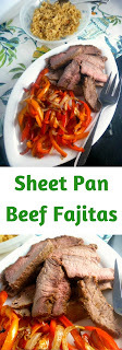 Sheet Pan Beef Fajitas:  Caramelized onions and peppers mixed with juicy meat, wrapped up in a hot fluffy tortilla. - Slice of Southern