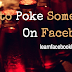 How to poke somebody that poked you on Facebook | How to Poke Someone On FB