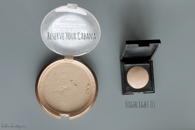 Laura Mercier Highlight 01 vs Wet 'n' Wild Reserve Your Cabana