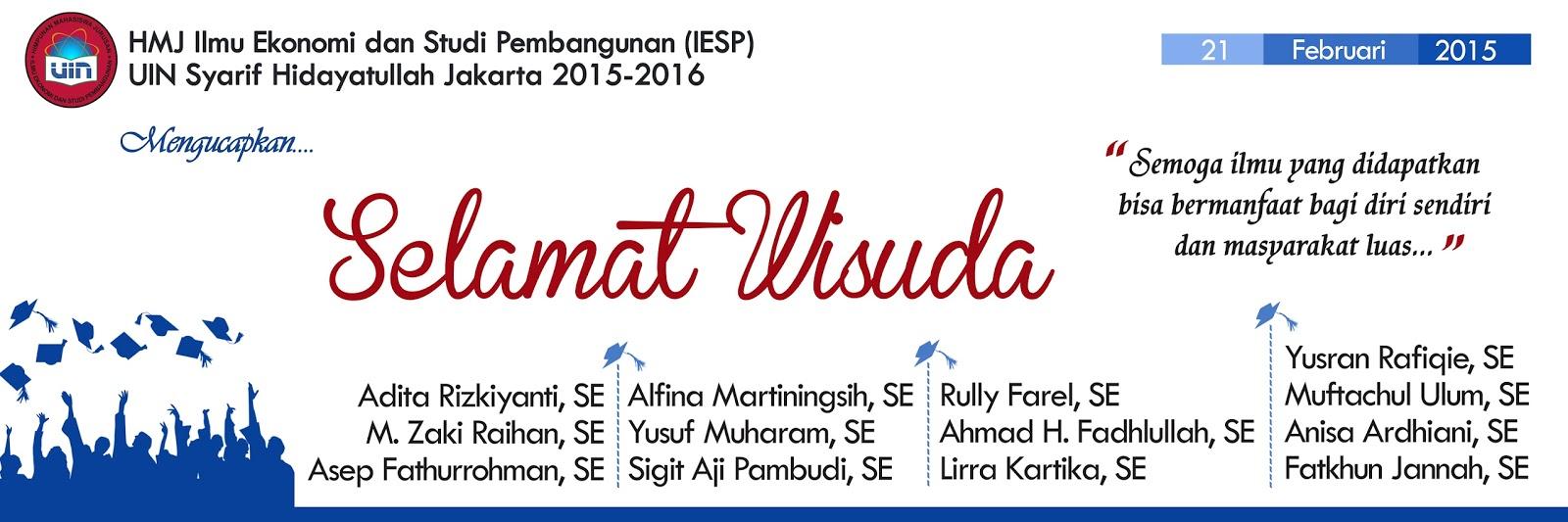 Design banner wisuda - Banner Wisuda Iesp 2015