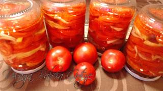 sałatka z czerwonych pomidorów do słoików