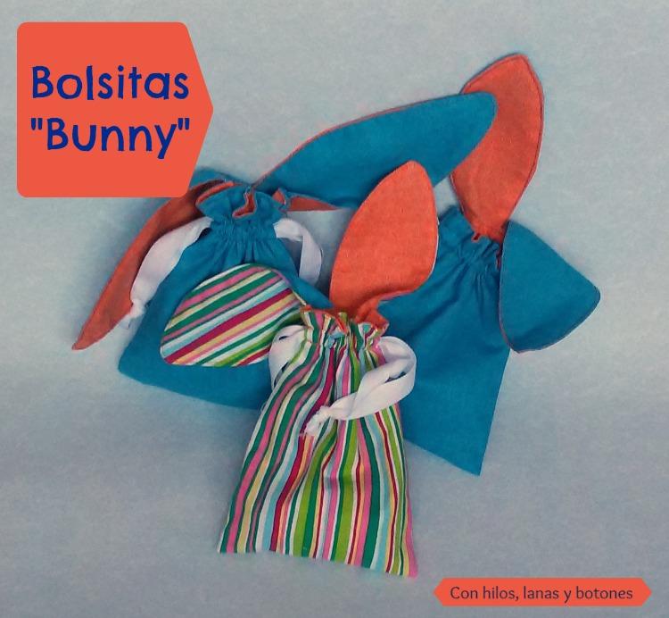 """Con hilos, lanas y botones: Bolsitas """"Bunny"""" reversibles"""
