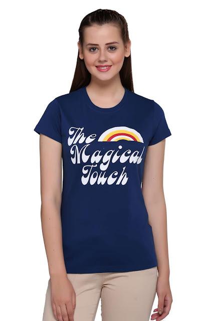 Women Printed Regular Fit T-shirt