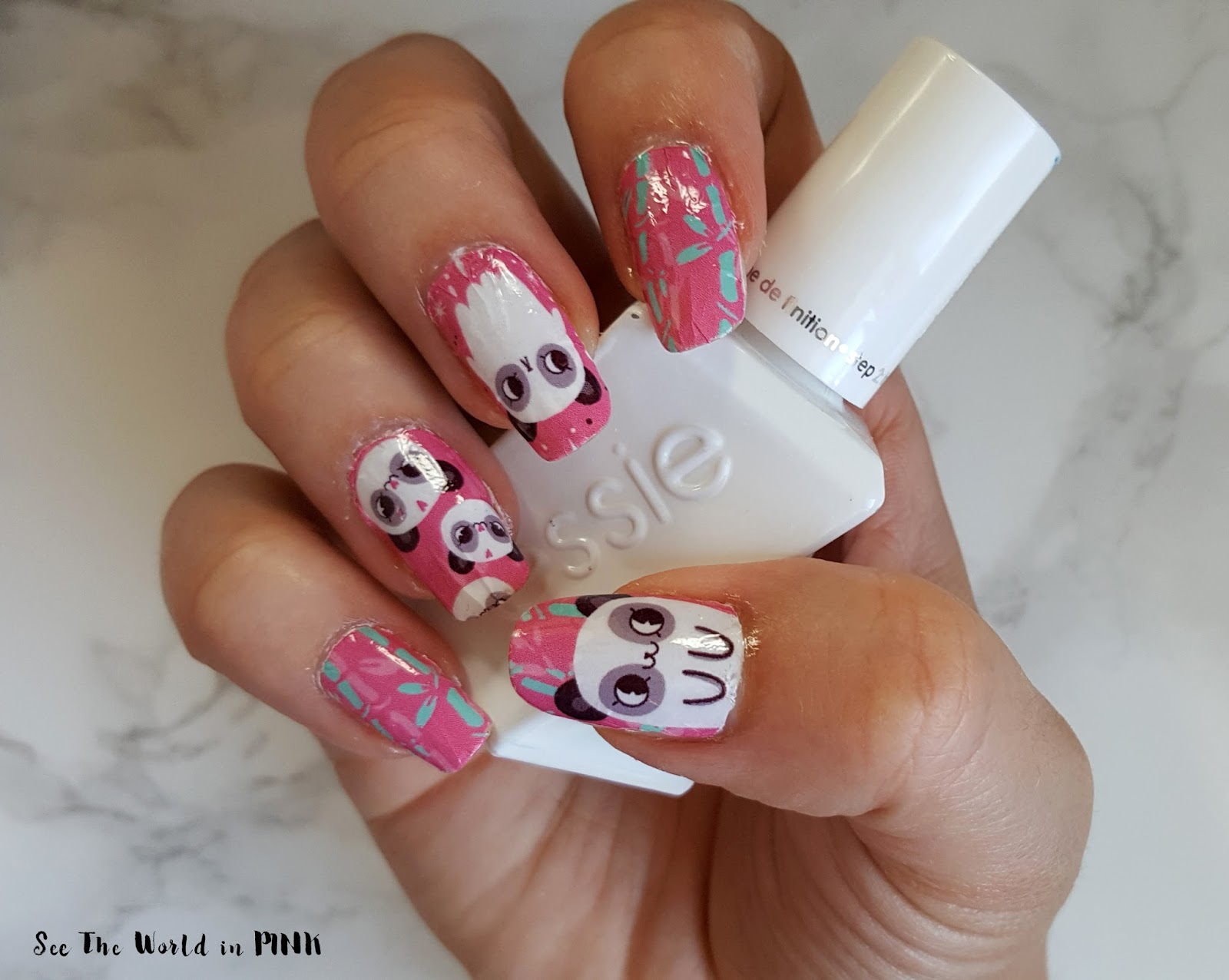 Manicure Monday - PearlPlanet Panda Pop Water Nail Decals