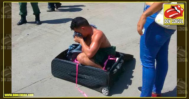 Esta mujer trató de sacar a su marido de la cárcel en una maleta