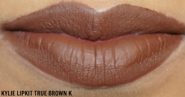 KYLIE LIP KIT TRUE BROWN K DISASTER swatch nc 42