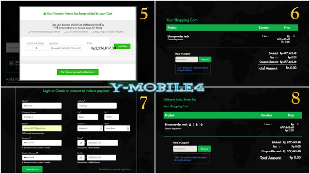 Ymobile4.com - Tutorial Domain tech Gratis
