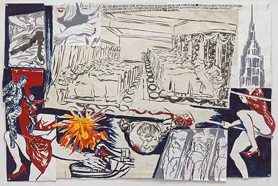 Raymond Pettibon No Title (All this and), 2015 Ink, acrylic, collage and gouache on paper 101.6 x 68.6 cm
