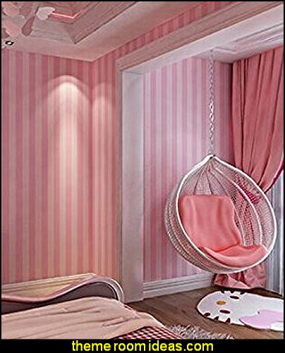 pink striped wallpaper  stripes on walls - striped decorating ideas - stripe wall decals - stripes bedding - stripes wallpaper - stripe theme baby nursery - decorating with stripes - striped rooms - painted stripes - striped walls - stripe bedding - stripe pillows - striped decorations
