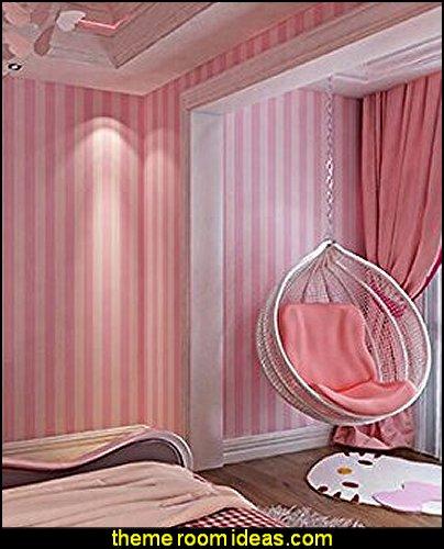 pink striped wallpaper  stripes on walls - striped decorating ideas - stripe wall decals - stripes bedding - stripes wallpaper - stripe theme baby nursery - decorating with stripes - striped rooms - painted stripes - striped walls - stripe bedding - stripe pillows - striped decorations