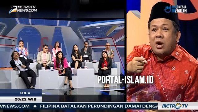 """Dikeroyok"" di Acara MetroTV, Tidak Ada Satupun yang Berhasil Membungkam Fahri Hamzah"