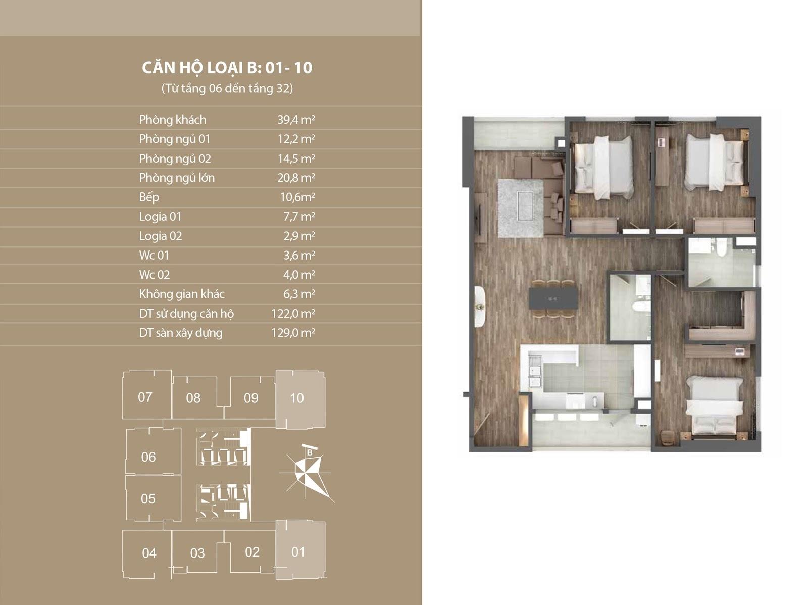 Thiết kế căn 01 và 10 - Chung cư Phú Mỹ Complex sang trọng và hiện đại