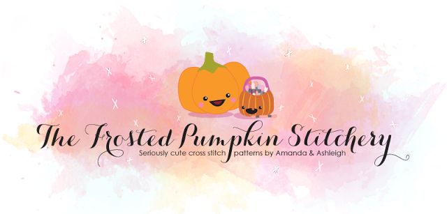 The Frosted Pumpkin Stitchery logo