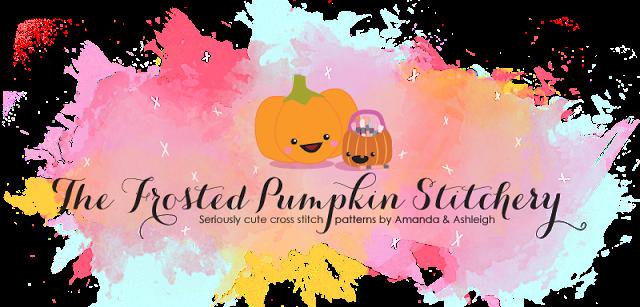 The Frosted Pumpkin Stitchery logo
