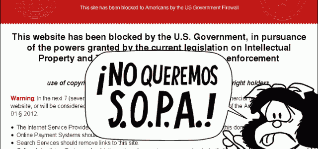 NO a la Ley S.O.P.A.