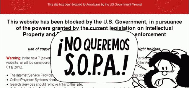 NO a la Ley S.O.P.A.