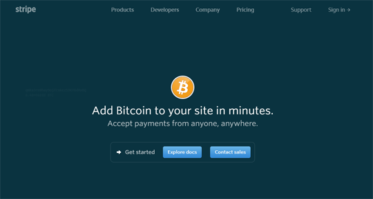 Accept Bitcoin payments on your website using Stripe