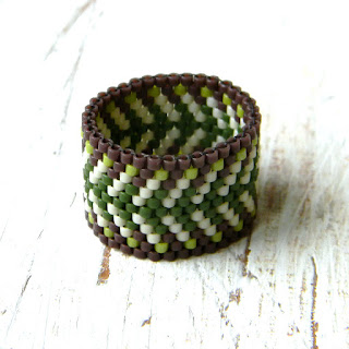 купить необычные украшения из бисера кольца ручной работы бохо этно
