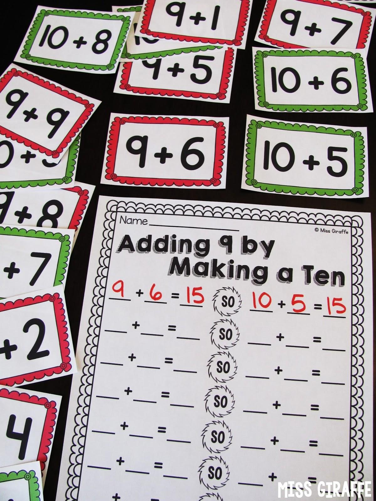 Miss Giraffes Class Making A 10 To Add