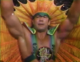 Ricky 'The Dragon' Steamboat teamed with British Bulldog and Texas Tornado at Summerslam 1991