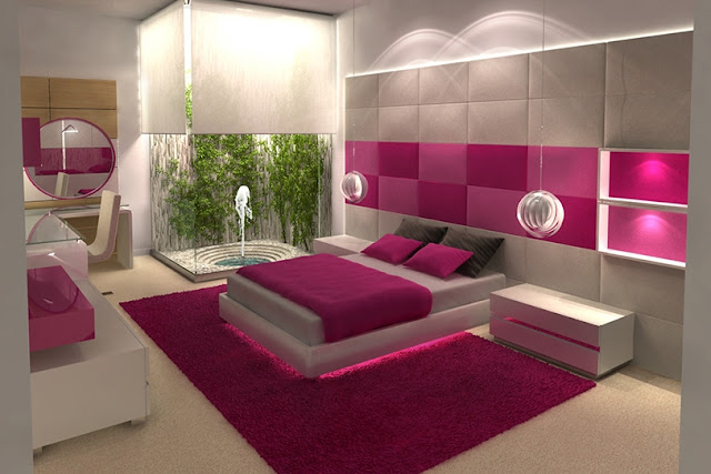 Dormitorio juvenil fucsia y blanco de karim chaman - Precios de habitaciones infantiles ...