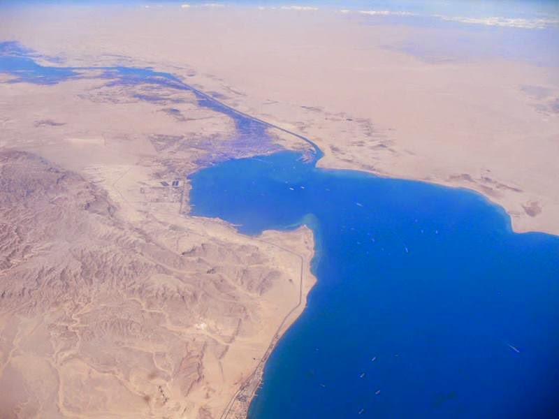 Red Sea end of canal